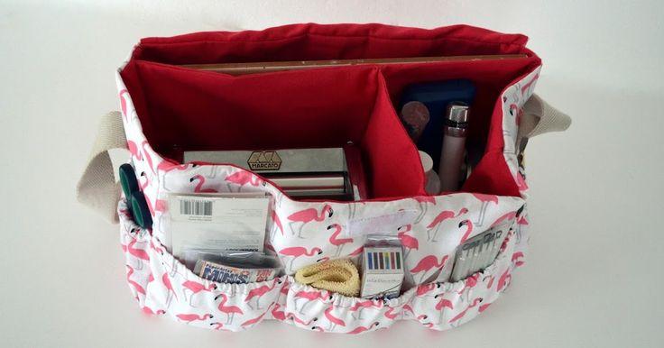 Vídeo tutorial de costura para aprender a hacer un bolso con compartimentos para guardar los materiales de manualidades.