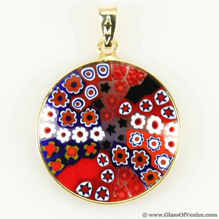 57 best murano millefiori pendants jewelry images on pinterest medium millefiori pendant in gold plated frame 23mm murano glassglass mozeypictures Choice Image