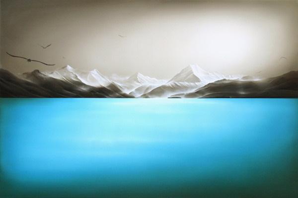 Sofia Minson's painting of Te Waka o Aoraki