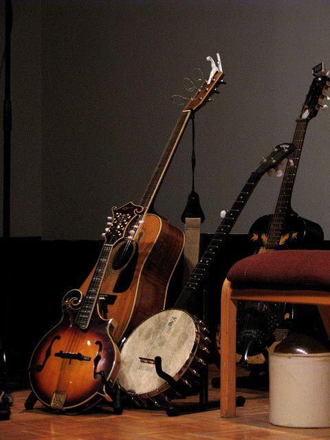 guitar, mandolin, and banjo