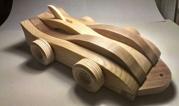 Mechanical Wood Toy Car #woodworking #kid #mechanism