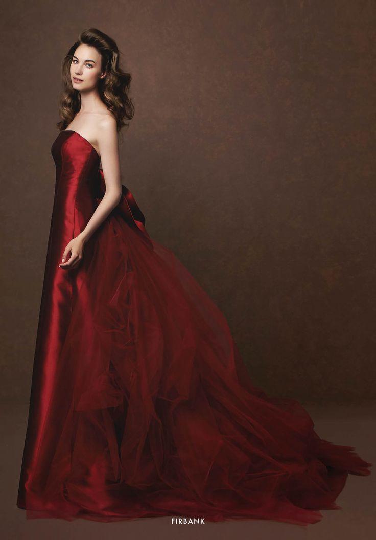 Collezione Signature 2015 - Elisabetta Polignano: Vestito rosso in seta e tulle #wedding #weddingdress #weddinggown #abitodasposa