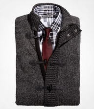 """Waffle Knit Carrdigan Gift: Waffle Stitch Toggle-Front Cardigan, Plaid Fitted Cotton Shirt, Skinny Silk Tie - Express Men"""" data-componentType=""""MODAL_PIN @ExpressLife"""