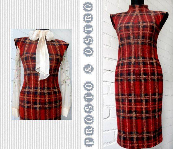Картинки по запросу платье из красной клетчатой ткани