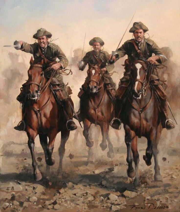 Rgto. Alcántara. Spain. Morocco War 1921 Painted by Augusto Ferrer Dalmau