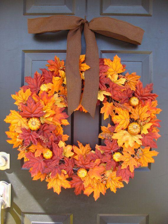 ... citrouille Pie Thanksgiving Couronne Decor - automne couronnes