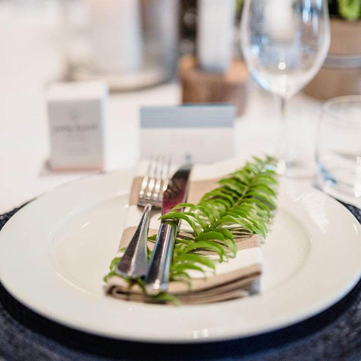 Fern with stripe napkin || photo @photosbyjessieann