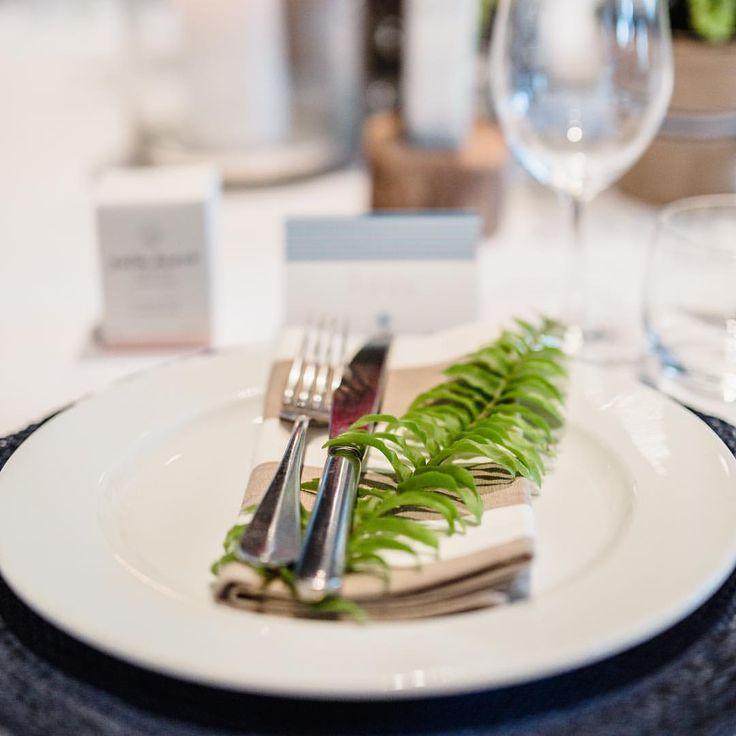 Fern with stripe napkin || photo @photosbyjessieann