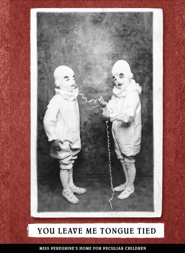 Creepy/Cute Valentine's Day cards from Miss Peregrine's Home for Peculiar Children...