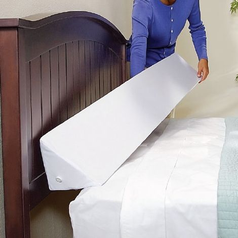 Mattress Wedge - to keep pillows and phones from falling behind my bed