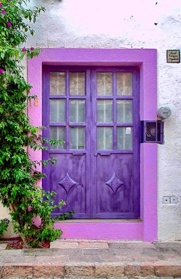 25 Best Ideas About Purple Front Doors On Pinterest