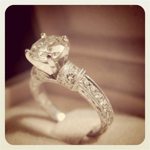 """Not to be one of """"those girls"""", but given the recent slew of engagements all over my Facebook--this is the ring I want put on me."""
