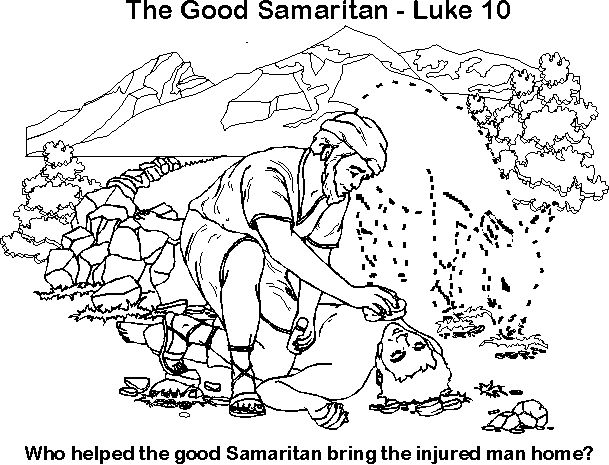 Free Coloring Page Good Samaritan