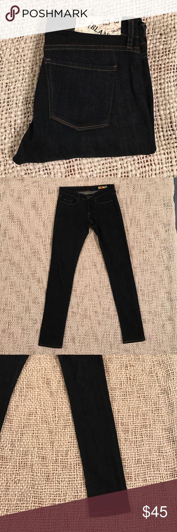 Blank Denim Jeans 27x32 skinny boot cut low rise Amazing pair of dark wash Blank Denim Jeans 27x32. Skinny boot cut with no wear to heels. Blank Denim Jeans