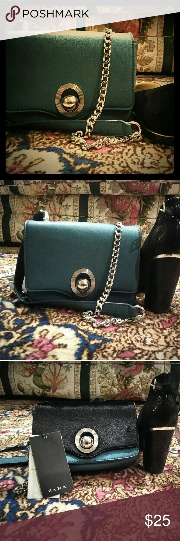 Convertible Zara handbag 2 for the price of 1. Convertible part unzips. Other part is black mohair! Stylish and chic. #affordablechic Bags Shoulder Bags