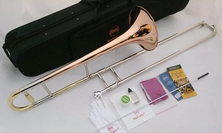 Bach TR-710 Bb tenor trombone tone down Bach trombone instrument phosphor bronze material copper-nickel alloy telescopic tube