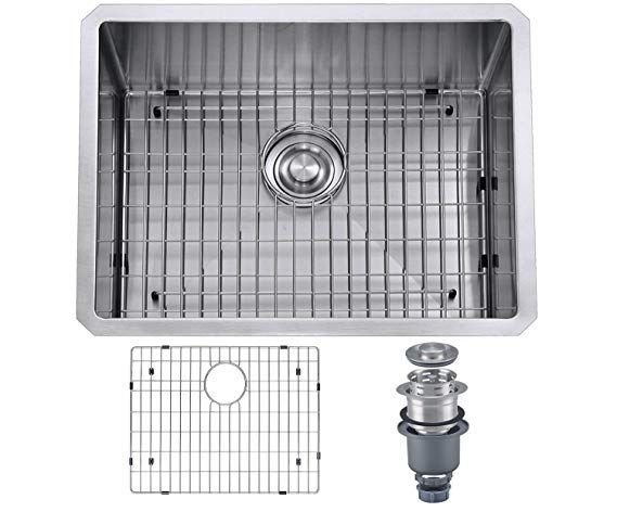 Mowa Hus2318 Pro Series R10 Tight Radius Handmade 23 16 Gauge Stainless Steel Undermount S Stainless Steel Undermount Modern Kitchen Sinks Stainless Steel Bar