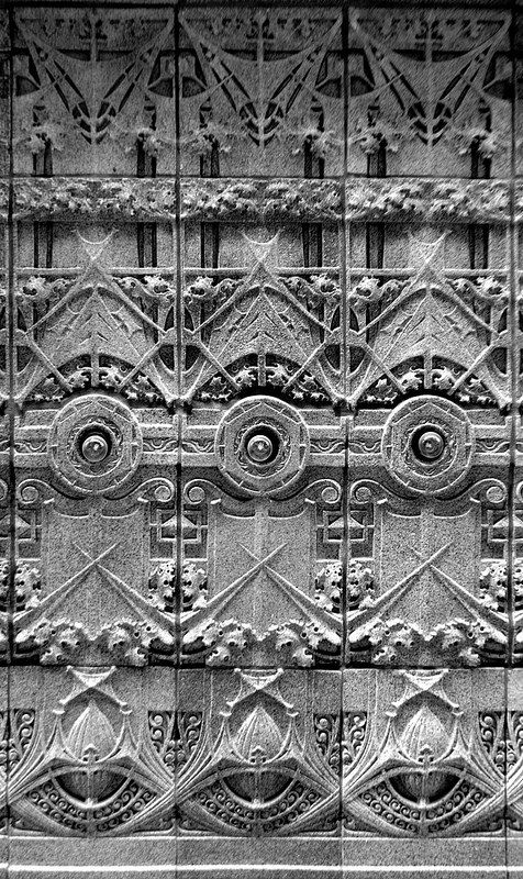 Glazed terra cotta. Krause Music Store building. Chicago, Illinois. 1922. Louis Sullivan.