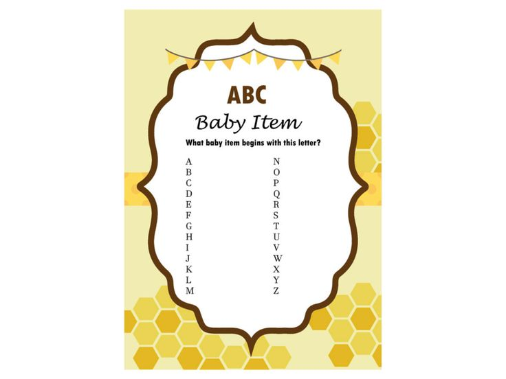 abc_game_Bee Theme, Gender Reveal, what will it bee, Mommy to Bee Baby Shower Game, Baby shower Activities, Game Prize, Unique Baby Shower, hbee1