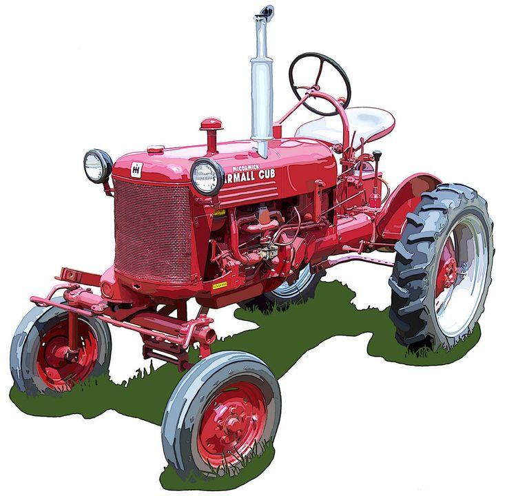 International Harvester Cub Tractor : International harvester farmall cub canvas art print by