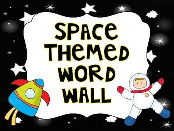"This is a space themed word wall label set. It includes 26 letters (uppercase and lowercase) on 8 pages. This would be a perfect fit for an ""out of this world"" word wall!"