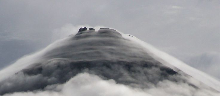 volcano halo - Stratus clouds, Arenal Volcano, Costa Rica  Low-forming stratus clouds are commonly known as fog — also mist