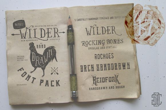 Wilder and Handdrawn Font Pack by Swistblnk Design Std. on Creative Market