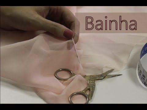 Como fazer bainha enrolada/ Bainha para tecidos transparentes - YouTube