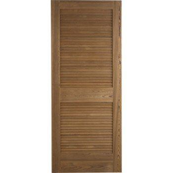 Porte coulissante pin plaqué marron Java ARTENS, 204 x 73 cm | Leroy Merlin