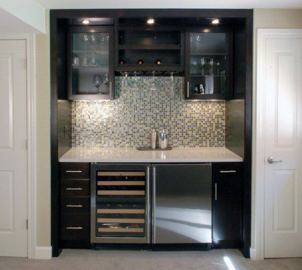 Top 70 Best Home Mini Bar Ideas Cool Beverage Storage Spots Wet Bar Basement Bars For Home Home Bar Designs