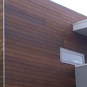 Natural timber weatherboard
