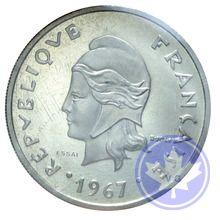 POLYNESIE-FRANÇAISE-1967-20 FRANCS ESSAI-FDC