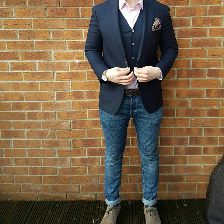 Suit supply blazer and cardigan, love their stuff!