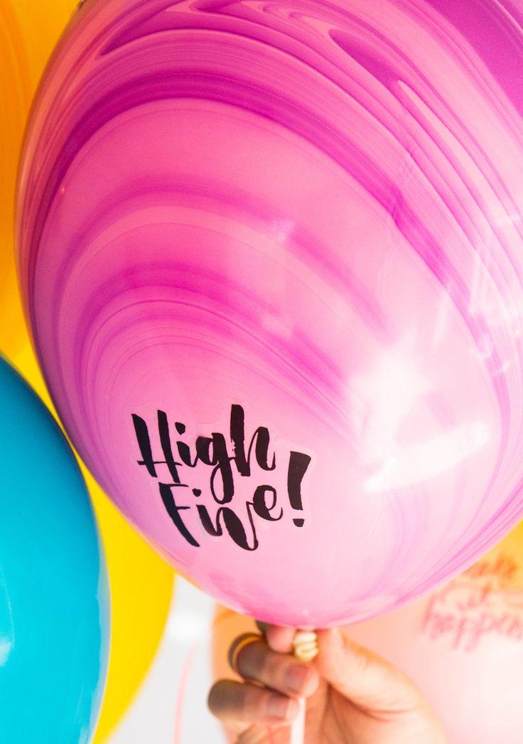 High Five Balloon http://asubtlerevelry.com/bullet-journal-motivational-balloons