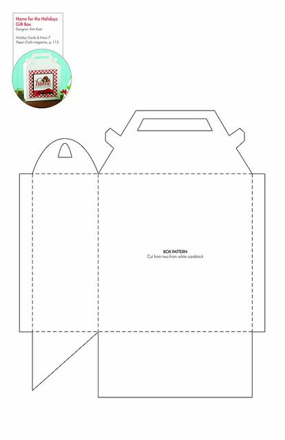 Free Gift Box Template.