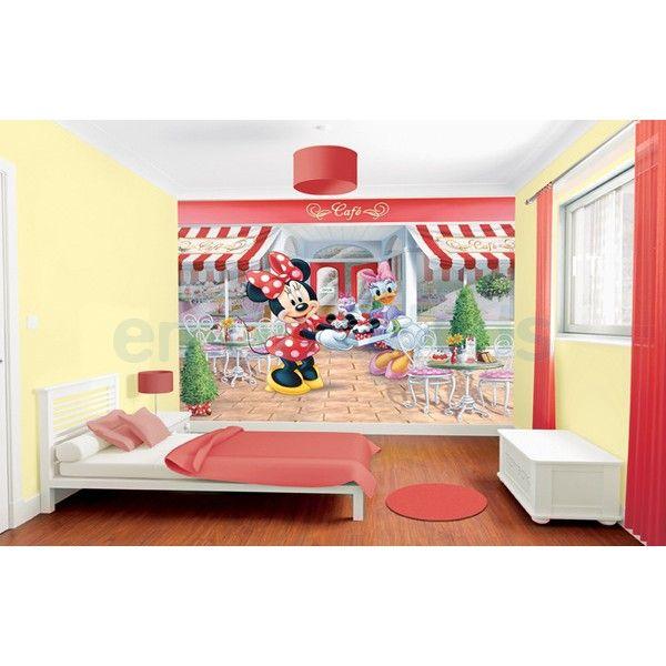 Cuisine Oignon Rouge : Grand papier peint Minnie Mouse  peinture murale pour chambre de