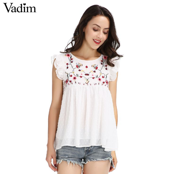 Like and Share if you want this  Vadim sweet floral embroidery pleated ruffled shirt cute sleeveless vintage doll blouse ladies summer casual tops blusas WT418     Tag a friend who would love this!     FREE Shipping Worldwide     Get it here ---> http://www.pujafashion.com/product/vadim-sweet-floral-embroidery-pleated-ruffled-shirt-cute-sleeveless-vintage-doll-blouse-ladies-summer-casual-tops-blusas-wt418/