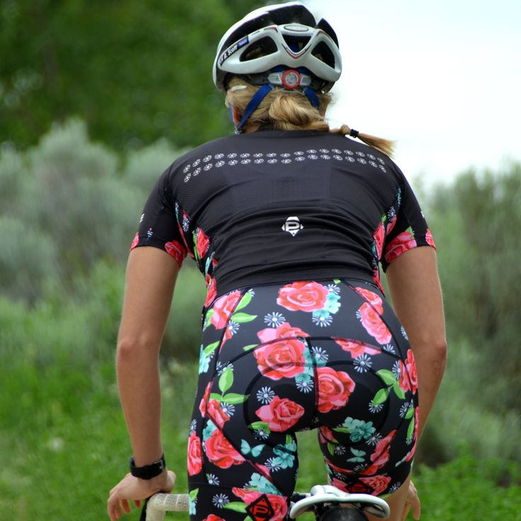 Women's Roses Cycling Bib Shorts and Jersey