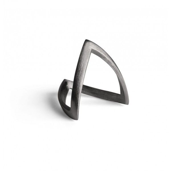 Jane Kønig V-ring - rhodineret sølv - Smykker - Accessories - Mode
