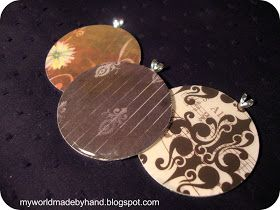 My World - Made By Hand: DIY Pendants from Paper & Washers - Version 1 {tutorial}
