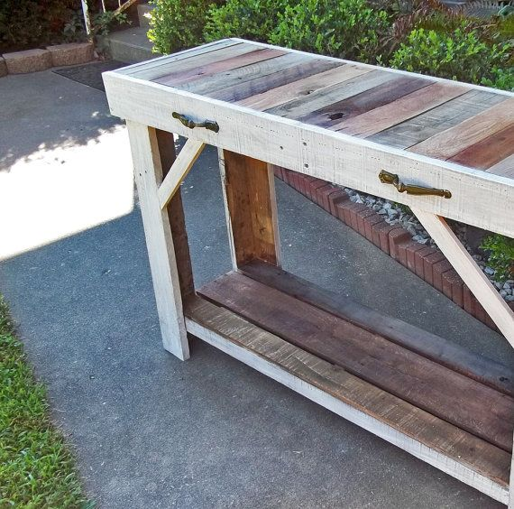 Reclaimed Pallet Table Entry Table Sofa by TheShopOnSmithStreet