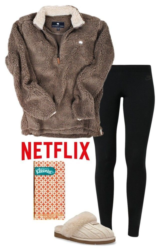 """Sick day "" by madelyn-abigail ❤ liked on Polyvore featuring NIKE, UGG Australia, women's clothing, women's fashion, women, female, woman, misses and juniors"
