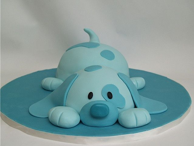 My attempt at Debbie Brown's puppy cake, made for my Grandpa who loves cute animal things.