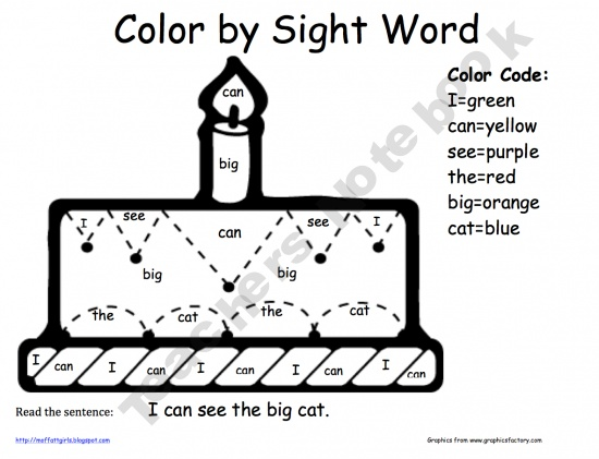 28 best Color by Sight Word images on Pinterest | Sight words, 1st ...
