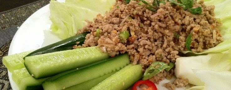 Thai Spicy Pork Mince Salad recipe (Larb Moo)