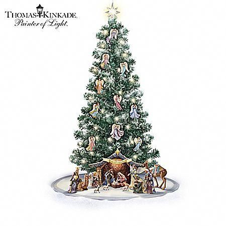 Thomas Kinkade Pre-Lit Nativity Christmas Tree Collection