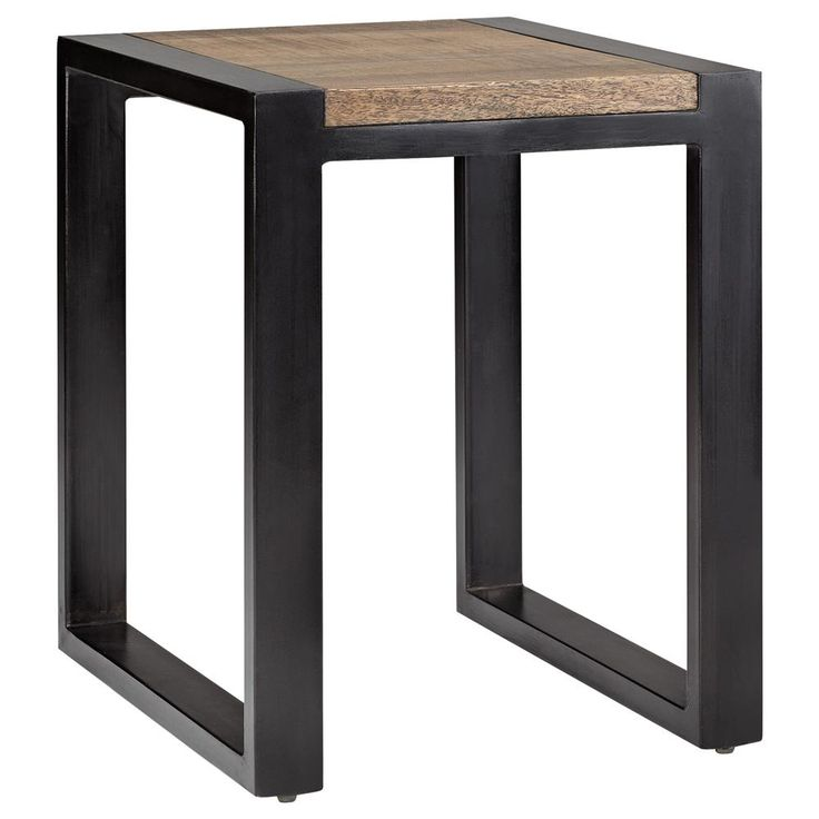 Table Bois Pieds Metal #14: Atelier - Chic Industriel - Table Gigogne En Bois Avec Pieds En Métal/TABLES  D