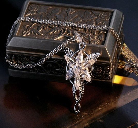 The Lord of the Rings Arwen Evenstar necklace---Seven star drill is a natural zircon. $36.99, via Etsy.