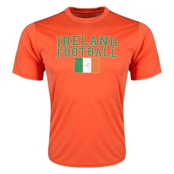 Ireland Football Polyester T-Shirt (Orange)