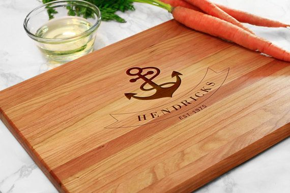 Check out Anchor Engraved Gift, Nautical Engraved Cutting Board, Gift for Home, Engraved Cutting Board, Engraved Gift (GB040) on chicagofactorygifts